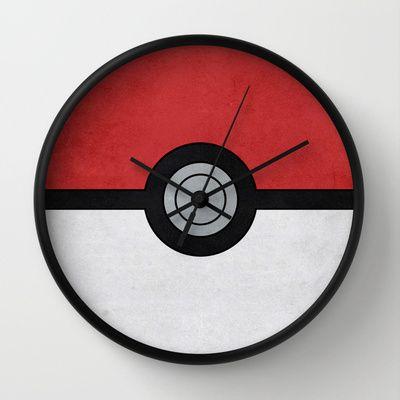 Minimal Pokemon Classic Wall Clock by Jorden Tually Art - For a Pokemon themed room maybe?
