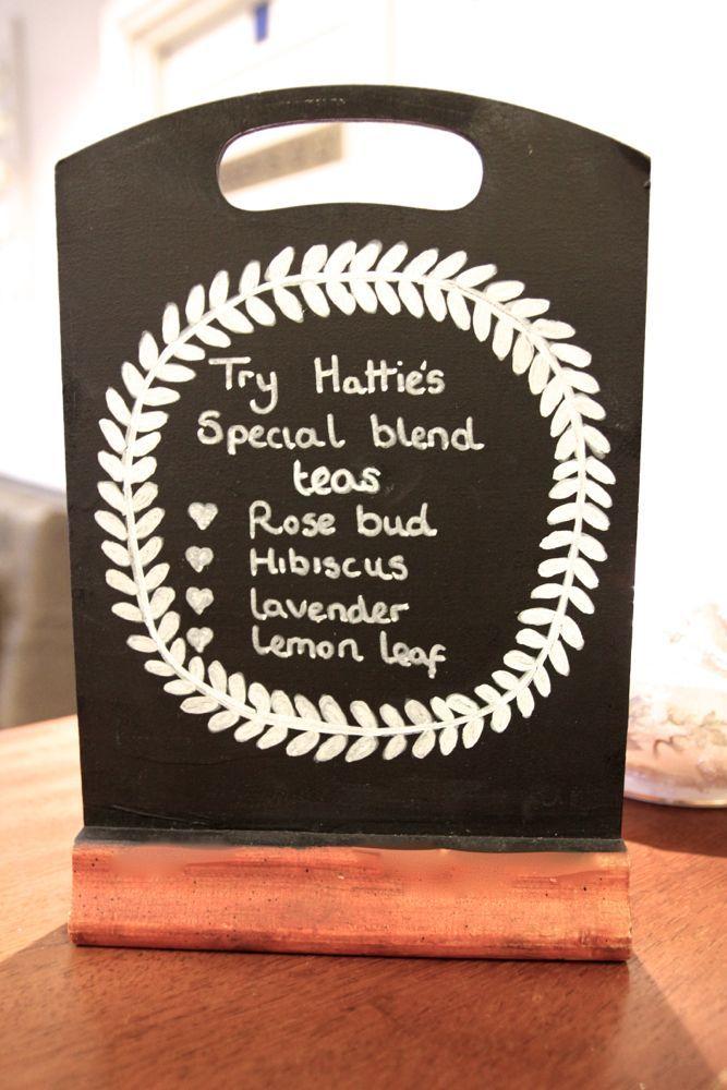 Special blend teas at Hattie's Baslow www.hattiesbaslow.co.uk