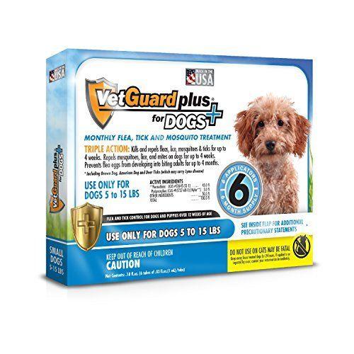 VetGuard Plus Flea & Tick Treatment for Small Dogs, 5-15 lbs, 6 Month Supply - https://www.balanced4u.net/crittercare/vetguard-plus-flea-tick-treatment-for-small-dogs-5-15-lbs-6-month-supply/
