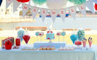 vintage blue race car birthday party