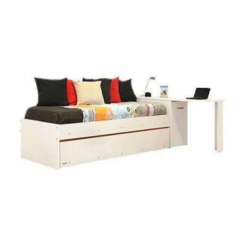 divan cama platinum mod 956 color blanco librero escritorio