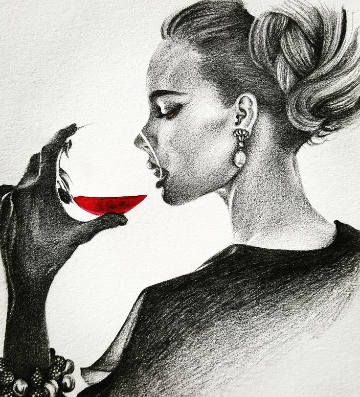 This is a picture of Soft Girl Drinking Drawing