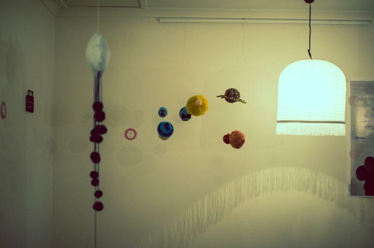 Pomiscuity exhibition February 2013. Pom Pom solar system. Photo by Kahlia Litzow