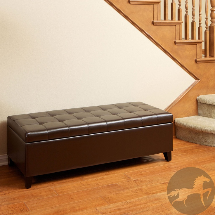 Christopher Knight Home Mission Brown Tufted Bonded Leather Ottoman Storage  Bench overstock - 30 Best Images About Coffee Tables On Pinterest Ottoman Storage
