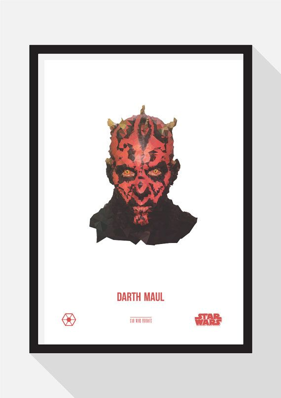 Darth Maul Portrait by TheDesignCollection on Etsy