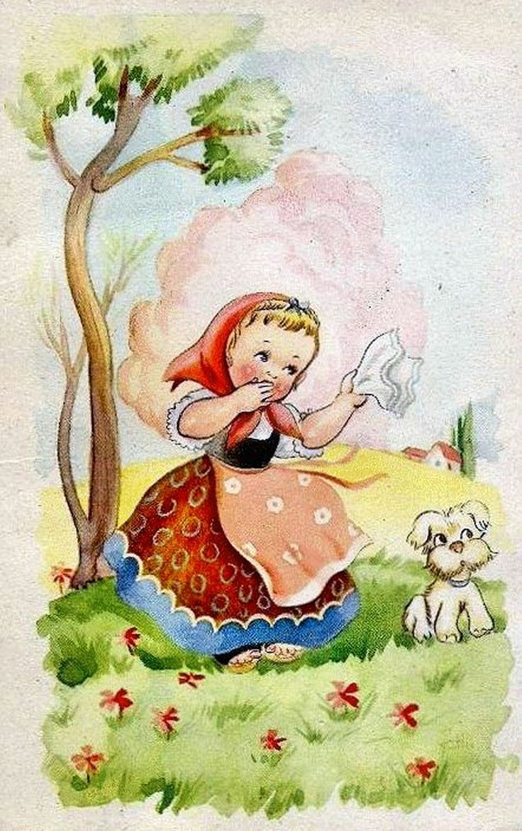 Watercolor books for kids - Sweetkids Retro Kidsvintage Childrenbook