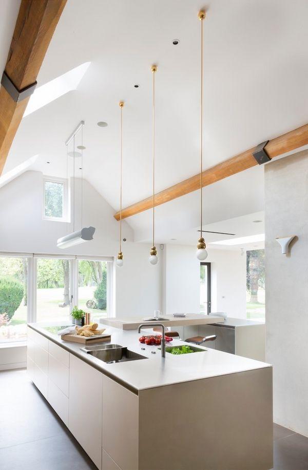 vaulted ceiling lighting ideas skylights mini pendant lights contemporary white kitchen ideas & Best 25+ Vaulted ceiling lighting ideas on Pinterest | Vaulted ... azcodes.com