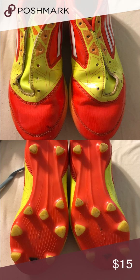 Adidas Youth Cleats This is a pair of youth Adidas Cleats. They are in very good condition. There is a small scuff on the toe. They are size 4.5 youth. Adidas Shoes