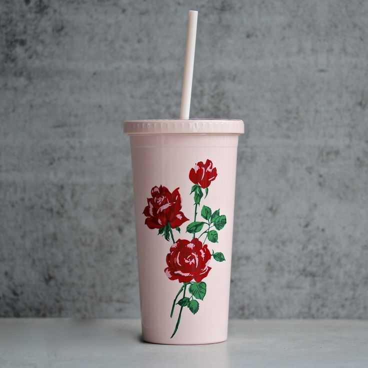 ban.do - sip sip tumbler with straw - will you accept this rose? - shophearts