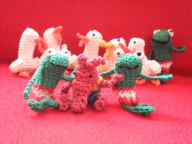Besten crochet finger puppets bilder auf pinterest