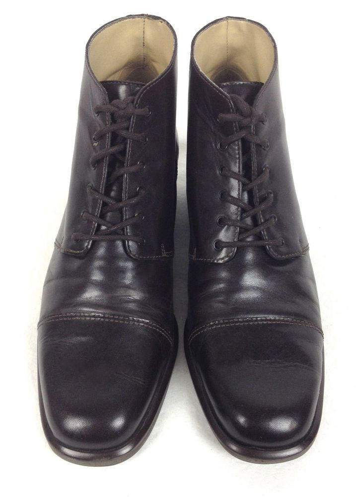 Nine West Shoes Women's Brown Leather Boots 6.5 #NineWest #FashionAnkle #WeartoWork