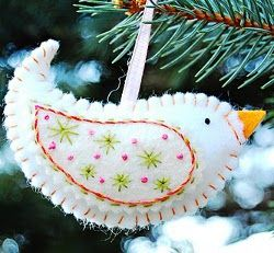 Birdie Ornaments - Here's a wonderful Christmas ornament you can sew. They'll make your tree look special and unique and you'll have a blast using your creativity to make them.