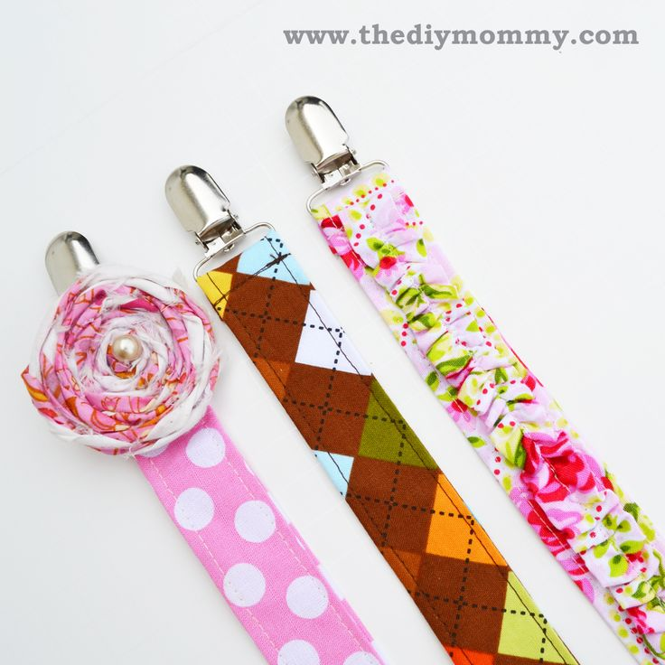 Sew Boutique Soother Clips, pacifier clips, binky clips, plug clips, or whatever you call it.