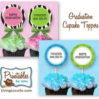 Graduation Cupcake Toppers {Free Party Printables}