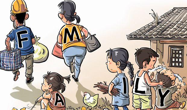Left-behind kids. By Li Min