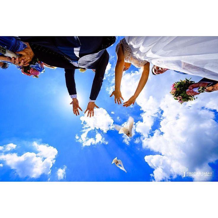 C&K's Wedding Day Preview | www.cristians.ro . . #weddingday #huffpostido #instawed #instapic #instagood #instalove #destinationweddingphotographer #romaniawedding #Transylvania #Romania #nikon #d750 #nikond750 #bride #pin #beautiful #groom #ig_romania #targumures #thesecondshot #aotss #wed_stars #freepigeons #blueskies #clouds #pure