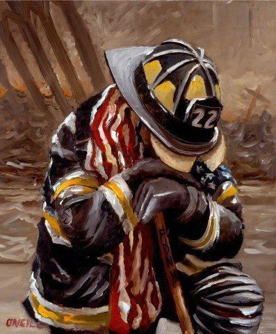 Robert Fitzgerald Hotalen voted for Peter O'Neill. This is his tribute to 9-11. May we never forget..: 911 Firefighters, 9 11, 911 Memories, 911 Tribute, Firefighters Neck, September 11 2001, Artists Worship, Peter Oneil, Fire Department