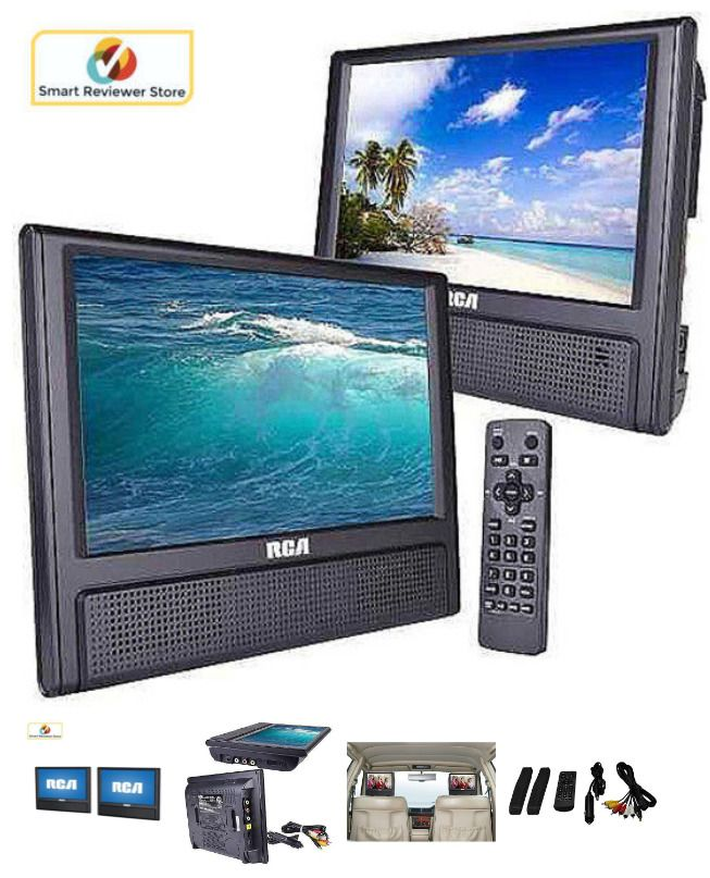 RCA 9 Dual Screen Mobile DVD Player LCD TV Car Video Portable Auto NEW