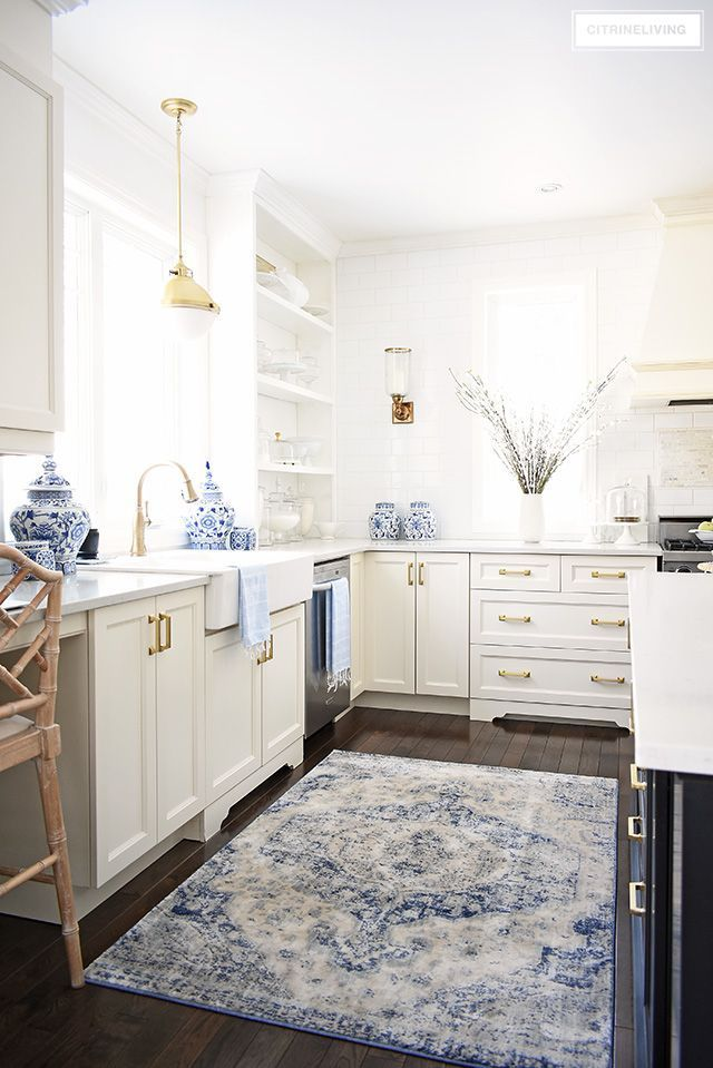 Diy Shabby Chic Home Decor Ideas Spring Decorating Ideas For Your Kitchen Add Beautiful Blue An In 2020 Blue Kitchen Decor White Kitchen Decor Interior Design Kitchen