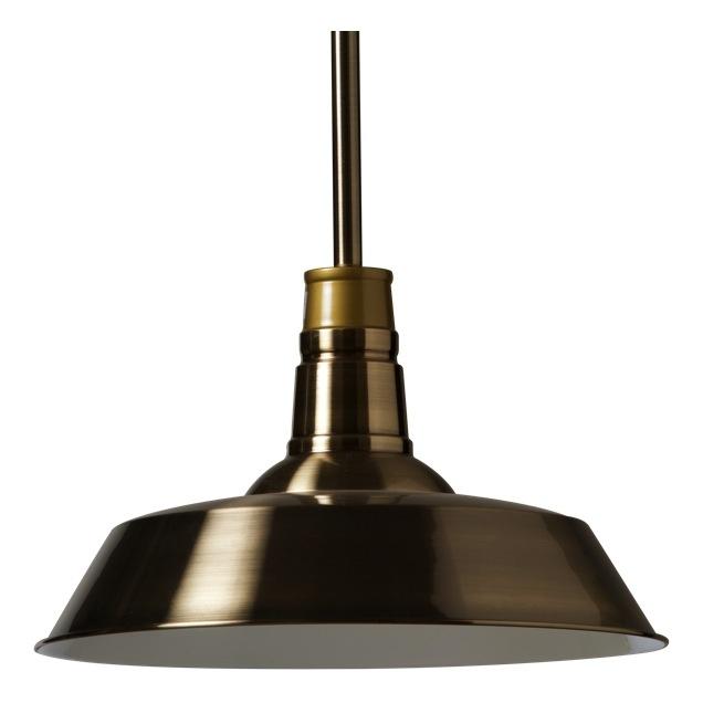 Large Warehouse Pendant Light in Brass
