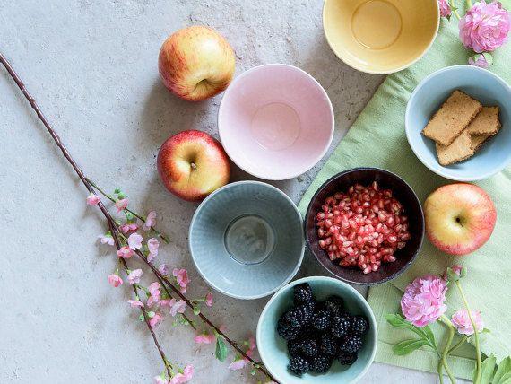 Ceramic Bowls set Ceramic Serving by 1220CeramicsStudio on Etsy