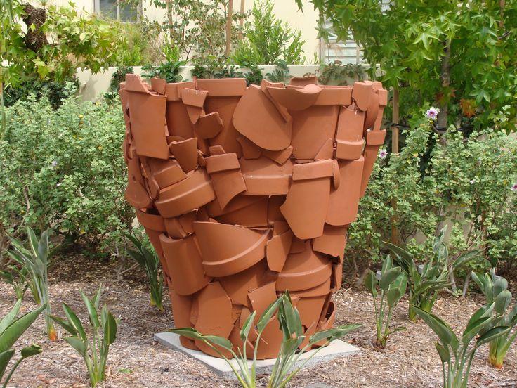 Clay pot sculpture art pinterest