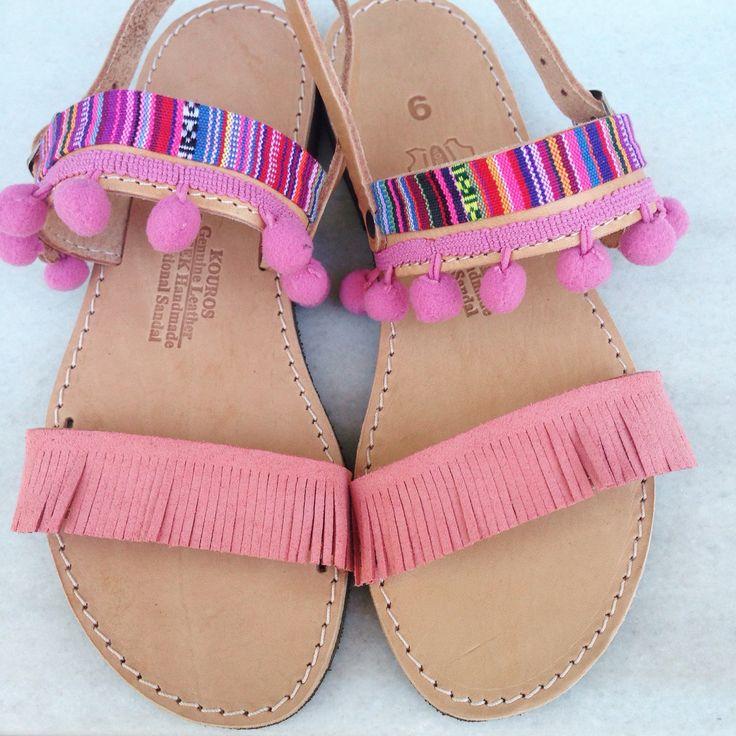 Pink bohemian sandal handmade by @bohemian__dreams