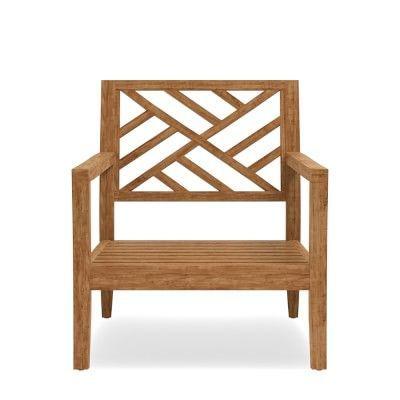 Garden Teak Club Chair Frame, Natural