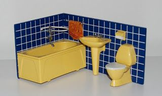 Blue Tiled Lundby Bathroom 1967-1972/73