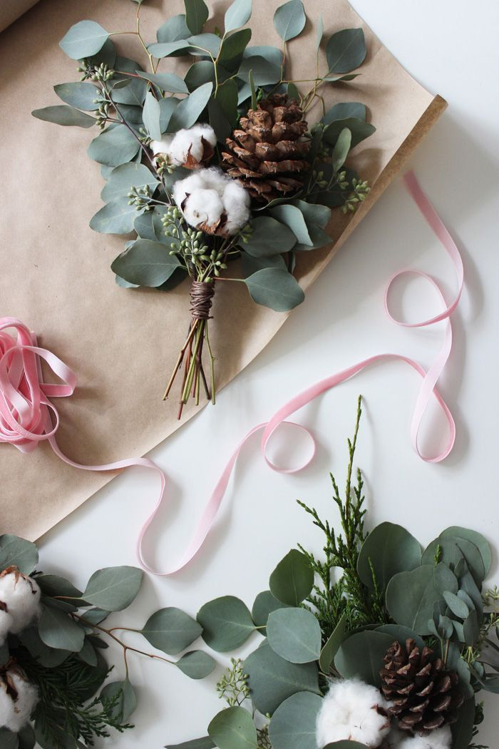DIY Holiday Bouquet Garland With Flower Factory   Poppytalk