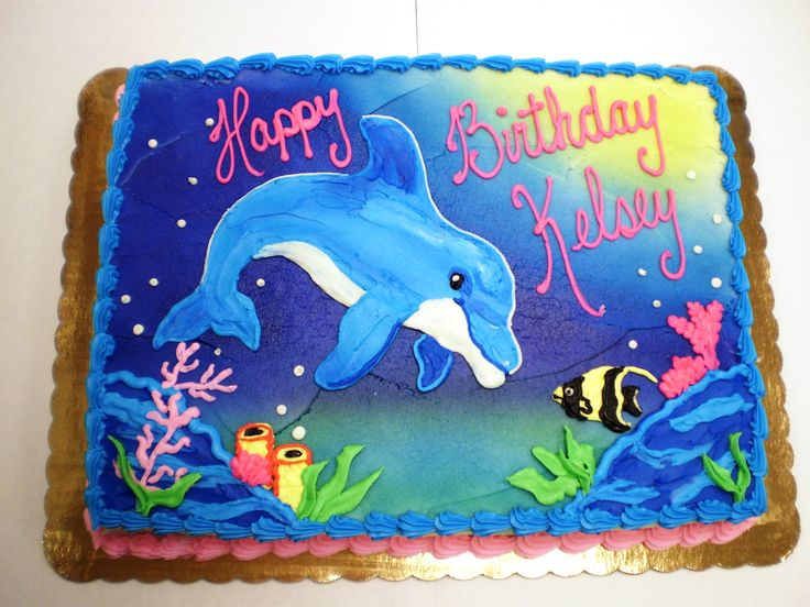 Dolphin Birthday Cakes | NY Super Foods
