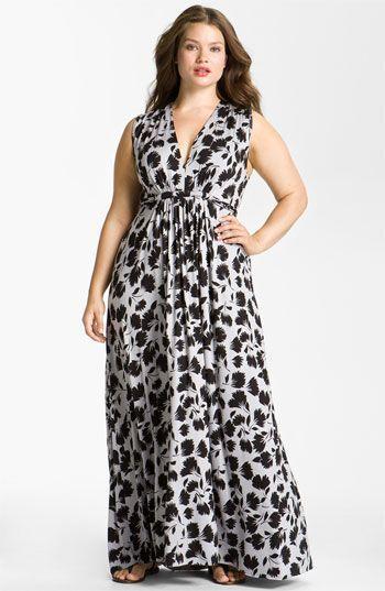 Vestido estampado para gordinhas - http://vestidododia.com.br/vestidos-longos/vestidos-longos-para-gordinhas/