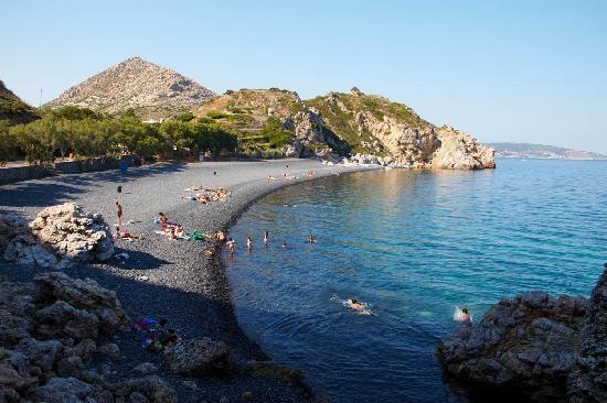 Mavra Volia, Black pebble stone beach - Chios, Greece