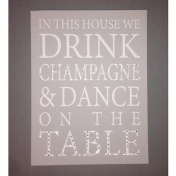 HunniBunni Champagne Personalised Canvas 3