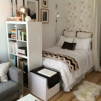 17 best images about sypialnia w salonie on pinterest studio apartments small apartment - Bed options for small spaces pict ...