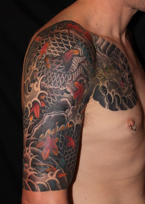 29 best images about my japanese irezumi tattoo work on for Tattoo cover sleeve target