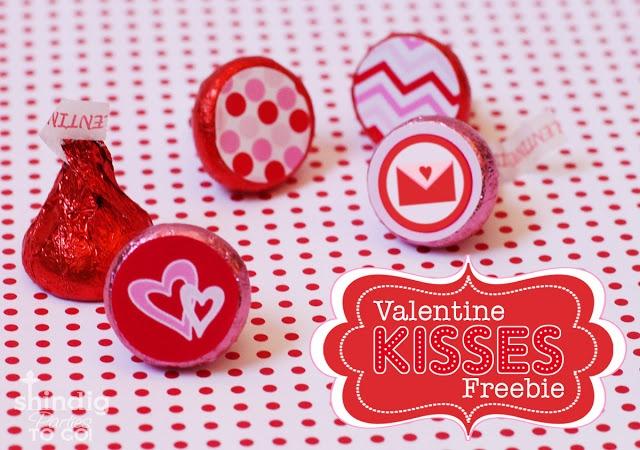 Amanda's Parties TO GO: FREEBIE Valentines Hershey Kiss Stickers