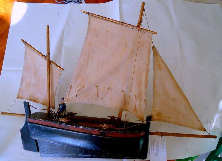 Bateau berckois du catalogue deffain de 1936 reproduction d 39 un voilier de p che de berck coque - Voilier de bassin ancien nanterre ...