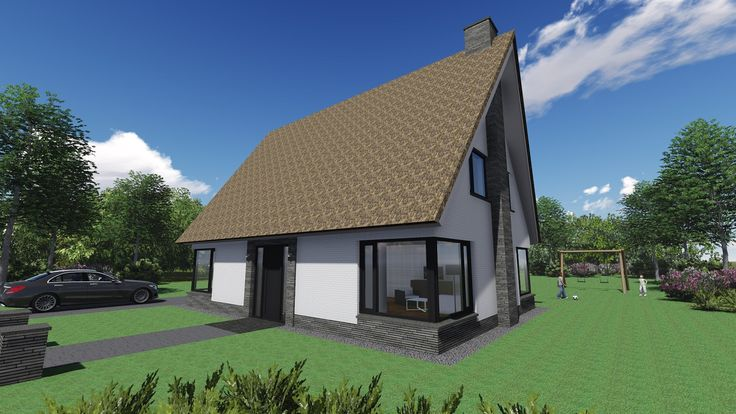 Impressie moderne vrijstaande woning rietgedekt. Door Signatuur Rijssen ( www.signatuurrijssen.nl )