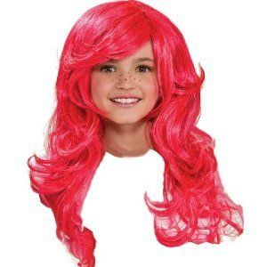 Child'S Long Pink Wig 24