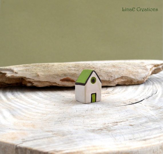 Miniature house OOAK Woodland II spring summer by LinaECreations, €9.50