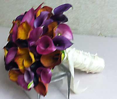fall wedding purple gray orange | Autumn flowers for Fall Weddings |