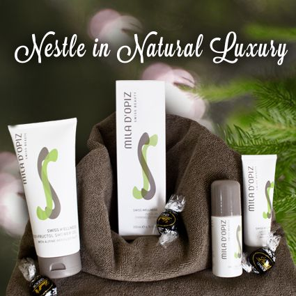 Treat your body this holiday break with our Mila d'Opiz Swiss Wellness Range. It's a concept for the entire body. Designed and developed to relax the body and mind, cleanse and detoxify, and e-mineralize and revitalize. What more could your body ask for; oh, wait there's chocolate.