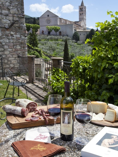 "An Italian ""picnic"" in Assisi, Italy. Join us in the Footsteps of St. Francis via www.CatholicFaithJourneys.com"