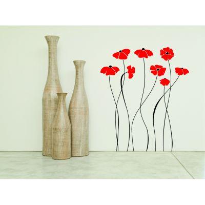 Diseño de vinilo de flores altas, perfecto para decorar tu sala. $200.00
