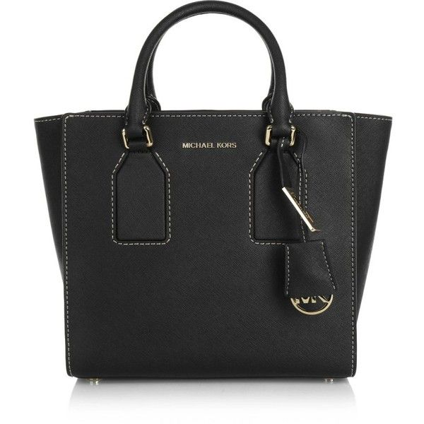 Michael Kors Handle Bags, MICHAEL Selby MD Satchel Black Handbag ($350) ❤ liked on Polyvore featuring bags, handbags, black, satchel handbags, michael kors purses, leather satchel, handbags purses and satchel purse