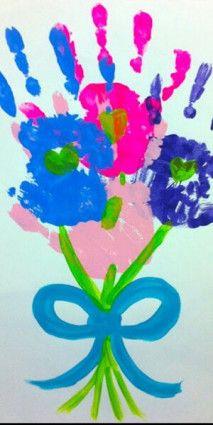 Een mooie bos bloemen knutsel voor moederdag!