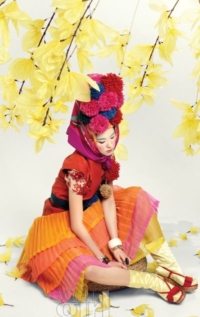 Spring-themed fashion editorial from Vogue Girl