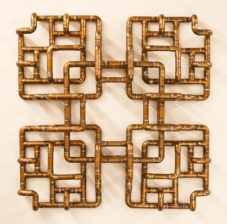 Copper wall sculpture truk machins pinterest for Copper wall art