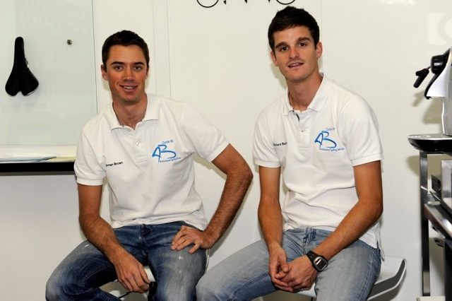 the cyclefit team at the studio...